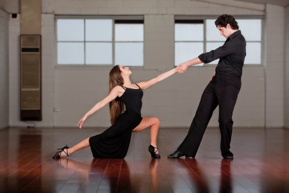 Dance Couple Arms Outstretched