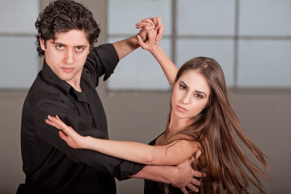 Dance Couple Looking at Camera