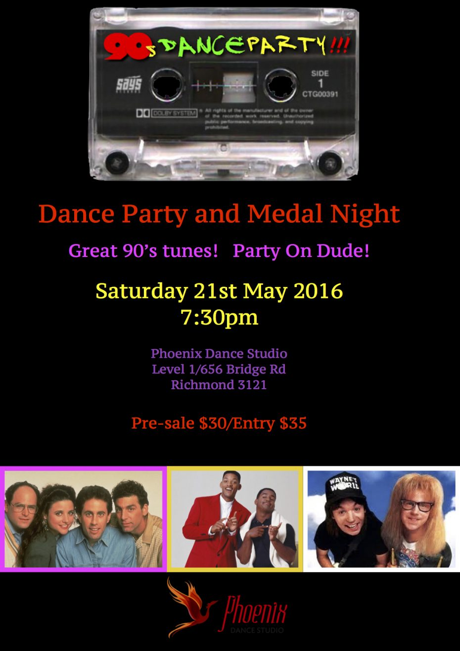 90's Medal night flyer